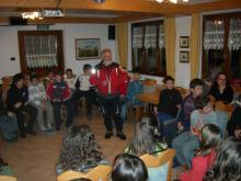 lesson of civil protection at Rifugio Sores