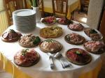 the kitchen and the dishes of our hotel rifugio sores
