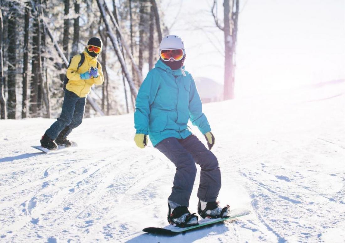 coppia sugli sci